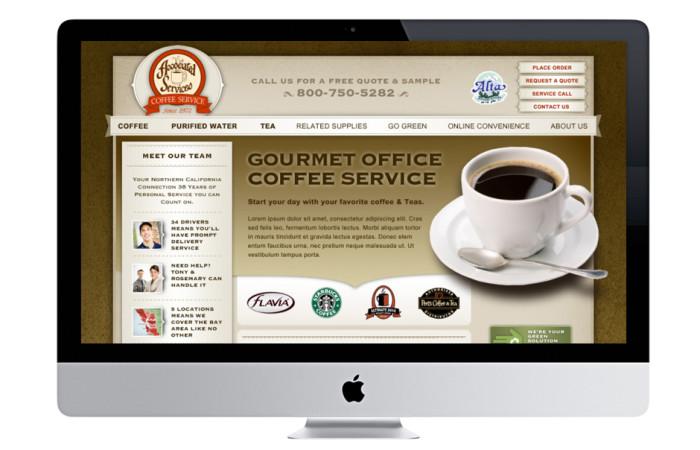 Associated Services Coffee Portfolio Website