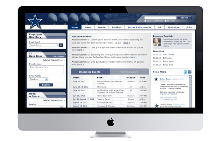 Dallas Cowboys Portfolio User Interface