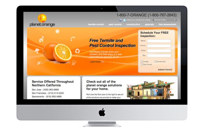 Planet Orange Portfolio Website
