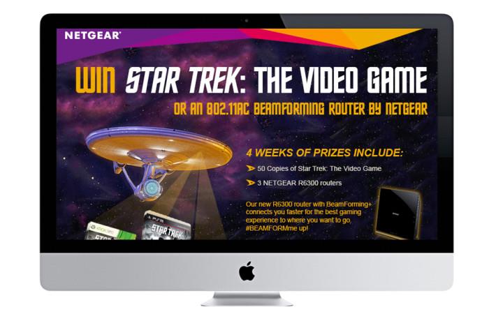 NETGEAR Star Trek Promotion Portfolio Website